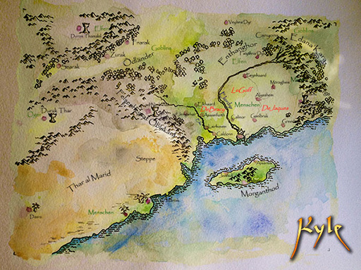 Map of the kingdom Calhuh